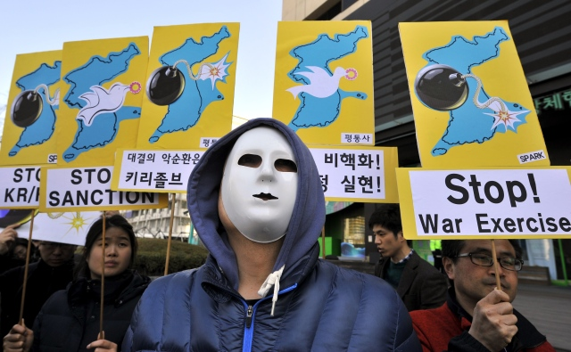 SKOREA-US-NKOREA-MILITARY-PROTEST